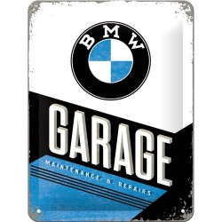 Placa metalica - BMW - Garage - 15x20 cm