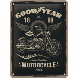 Placa metalica - Goodyear Motorcycle - 30x40 cm