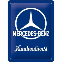Placa metalica - Mercedes Benz Customer Service - 15x20 cm