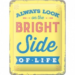 Placa metalica - The Bright Side - 15x20 cm