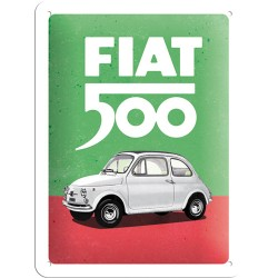 Placa metalica Fiat 500 - Italian Colours
