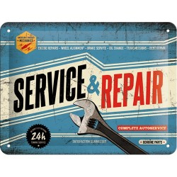 Placa metalica - Service & Repair XM - 15x20 cm
