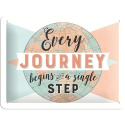 Placa metalica - Every Journey - 15x20 cm
