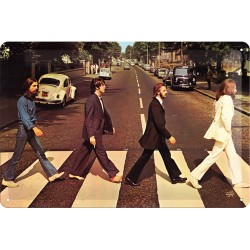 Placa metalica - The Beatles - Abbey Road - 20x30 cm