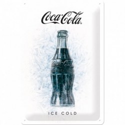 Placa metalica - Coca Cola - Ice Cold - 20x30 cm