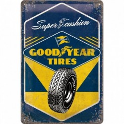 Placa metalica - Goodyear Tires - 20x30 cm