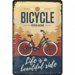 Placa metalica - Bicycle - Beautiful Ride- 20x30 cm
