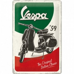 Placa metalica - Vespa - The Italian Classic- 20x30 cm