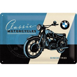 Placa metalica - BMW - Classic Motorcycles - 20x30 cm