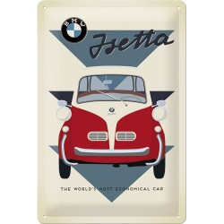 Placa metalica - BMW - Jseta - 20x30 cm