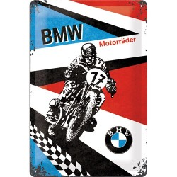 Placa metalica - BMW - Motor Raider - 20x30 cm