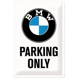 Placa metalica - BMW - Parking Only M - 20x30 cm