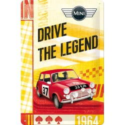 Placa metalica - Mini - Drive The Legend - 20x30 cm
