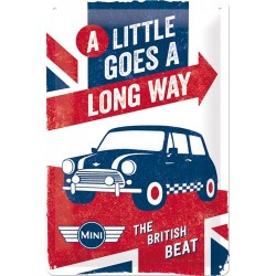 Placa metalica - Mini Cooper - The British Beat - 20x30 cm