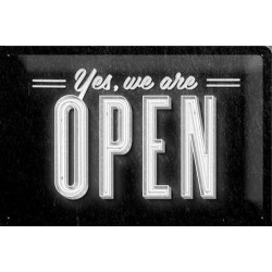 Placa metalica - We Are Open - 20x30 cm