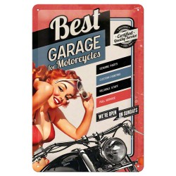 Placa metalica - Best Garage Red - 20x30 cm