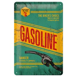 Placa metalica - Gasoline - 20x30 cm