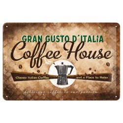 Placa metalica - Coffee House - 20x30 cm