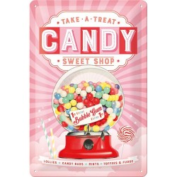 Placa metalica - Candy - 20x30 cm