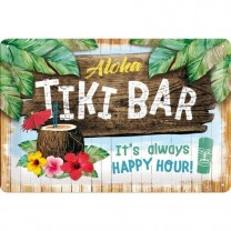 Placa metalica - Tiki Bar - 20x30 cm