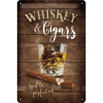Placa metalica - Whiskey