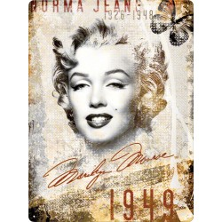 Placa metalica - Marilyn Monroe portrait - 30x40 cm