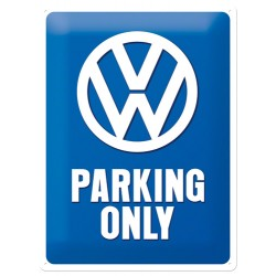 Placa metalica - Volkswagen Parking only - 30x40 cm