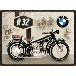 Placa metalica - BMW - Motorcycle R32 - 30x40 cm