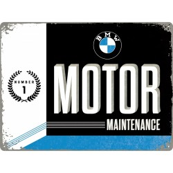 Placa metalica - BMW - Motor Maintanance - 30x40 cm