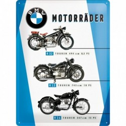 Placa metalica - BMW - Motorcycles Chart - 30x40 cm