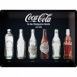 Placa metalica - Coca Cola - Evolution Black - 30x40 cm