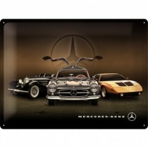 Placa metalica - Mercedes Benz 3 Masini - 30x40 cm