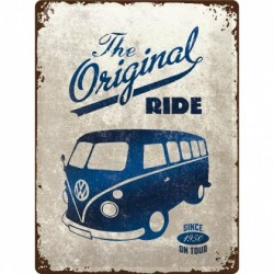 Placa metalica - Volkswagen Bulli The Original Ride - 30x40 cm