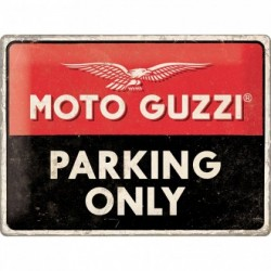 Placa metalica - Moto Guzzi - Parking Only- 30x40 cm