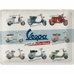 Placa metalica - Vespa - Model Chart- 30x40 cm