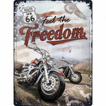 Placa metalica - Route 66 Freedom - 30x40 cm