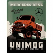 Placa metalica - Mercedes-Benz Unimog - 30x40 cm