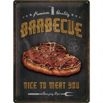 Placa metalica Barbecue Nice To Meat You