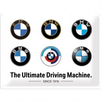 Placa metalica BMW - Logo Evolution