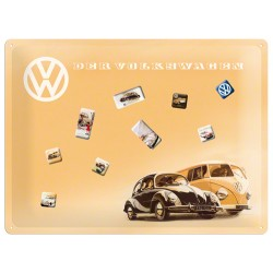 Placa metalica - Volkswagen - Remember - 30x40 cm