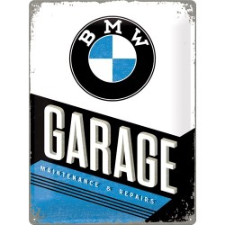 Placa metalica - BMW - Garage - 30x40 cm