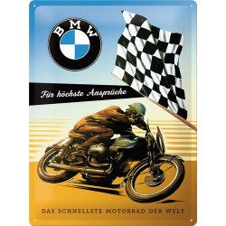 Placa metalica - BMW Motorcycle - 30x40 cm