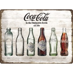 Placa metalica - Coca Cola - Evolution - 30x40 cm