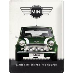 Placa metalica - Mini Cooper - Green - 30x40 cm
