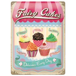 Placa metalica - Fairy Cakes - 30x40 cm