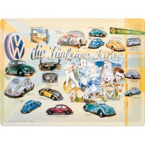 Placa metalica - Volkswagen - Hollywood - 30x40 cm