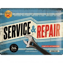 Placa metalica - Service and Repair - 30x40 cm