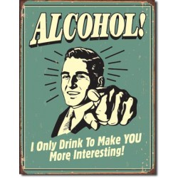 Placa metalica - Alcohol - More Interesting - 30x40 cm