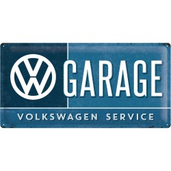 Placa metalica - VW - Garage - 25x50 cm