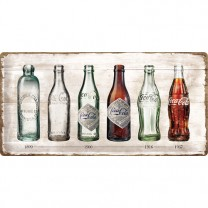 Placa metalica - Coca Cola - Evolution - 25x50 cm
